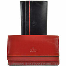 NEW Ladies SOFT Larger FLAP Over LEATHER PURSE WALLET by Rowallan Gift ZaraGoza