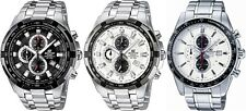 Casio Edifice Chronograph Black / White Dial Stainless Steel Gents Watch