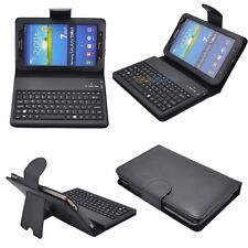 PU Leather Case Cover with Wireless Bluetooth Keyboard for Samsung Galaxy Tab 3