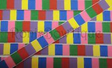 3/8 CANDY LAND PRINTED CRAFT SCRAPBOOK FABRIC RIBBON HAIR BOW BOARD GAME SPACES