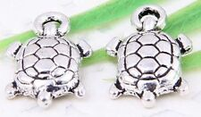 Wholesale 60/130Pcs Tibetan Silver(Lead-Free)Tortoise Charms Pendants 15x9mm