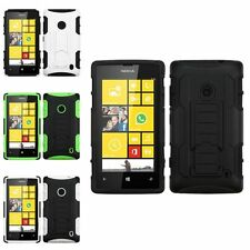 ADVANCED ARMOR HARD CASE COVER STAND FOR NOKIA LUMIA 520 ACCESSORY
