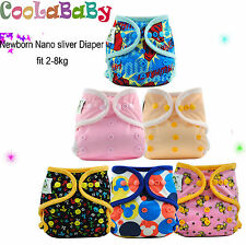 Coolababy Newborn Multi-Color Baby Pocket Cloth Diaper Antibacterial + insert
