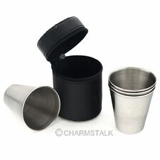 4pcs Mini Portable Stemless wine glass Travel home cup stainless steel Wine