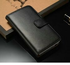 Genuine Luxury Real Leather Flip Wallet Case Stand Cover For Apple iPhone 4 4S