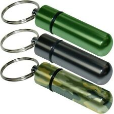 Geocaching Keyring Money Pill Box Pouch Camping Fishing Black Green Camouflage