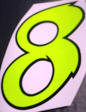 "x1 1"" Digit  (MORE in EBAY SHOP) Race Numbers vinyl stickers Style 2"