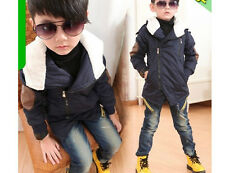 New Boys Girls Lovely Zipper Hoodies Warm Coat Kids Jacket Snowsuits 2-8Years