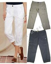NEW WOMEN'S TOMMY HILFIGER CROPPED CARGO PANTS! 100% COTTON! VARIETY SIZES COLOR