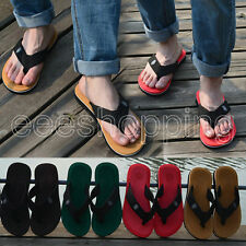 New Casual Beach Home Mens Flip Flops Sandals Slipper 4 Color UK Size 5/6/7/8/9