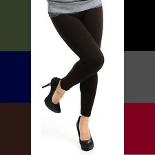 Fleece-Lined Leggings Opaque Footless Winter Warm Adult Ladies One Size Stretch