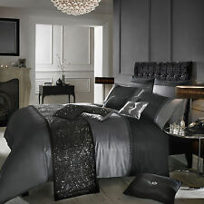 Kylie Minogue Bedding- ISLA Luxury Grey & Black Satin Bed Linen / Bedding Range