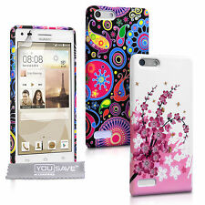 Yousave Accessories For Huawei Ascend G6 Floral Design Silicone Case Cover UK