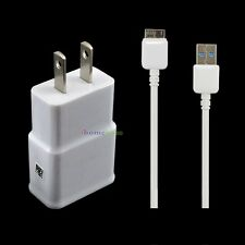 HOME WALL TRAVEL AC CHARGER POWER ADAPTER USB 3.0 SYNC DATA CABLE FOR SAMSUNG
