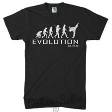 Karate Evolution T Shirt Mens Womens Present Top Sports Martial Arts Self Defend