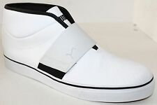 Puma El Rey Mid L 352667-02 White Leather Mens Athletic Shoes NWD Size 7 - 12