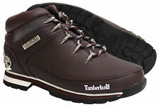 Timberland Euro Sprint Brown Lace Up Mens Boys Hiking Leather Boots (44546)