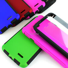 For LG Optimus L70 MS323 Hybrid Armor Protective Slim Hard Case Cover w/Screen