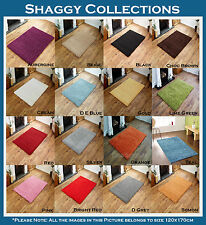 NEW EXTRA LARGE 5CM DENSE THICK PILE LUXURIOUS NON SHEDDING MULTI SHAGGY RUGS