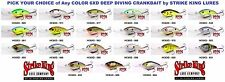 Strike King Crankbaits 6XD Rattling Pro Model Series Deep Dive Lure Any Color