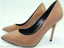 Boutique 9 Sally Dark Natural Patent Leather Pointed Toe High Heeled Pumps