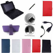 "Colorful Keyboard PU Case+Stylus+OTG For 9"" ZTO 9-Inch Android 4.1 Tablet PC"