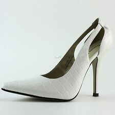 Women Pointy Toe Classic High Heel Semi Slingback Style Work Sexy Pumps Shoes