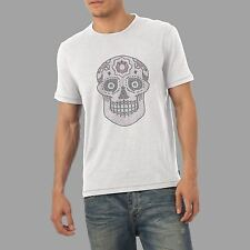 Men's Skull - Rhinestone Diamante Crystal Shirt   Men's  Adults Sizes S- XL