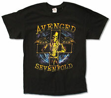 "AVENGED SEVENFOLD ""STELLAR 2014 TOUR"" (BC-OH) BLACK T-SHIRT NEW OFFICIAL A7X"
