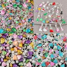 Wholesale Christmas Xmas Accessories Heart Loose Beads Fits EP Charms Bracelet
