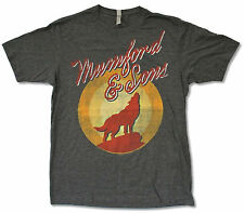 """MUMFORD & SONS """"HOWLING TOUR 2012"""" CHARCOAL GREY T-SHIRT NEW OFFICIAL ADULT"""