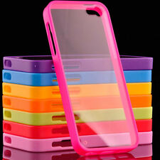 New TPU Frame Bumper Ultra Thin Clear Hard Back Case Cover for iPhone 5 5G 5S