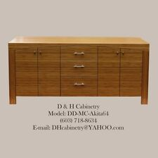 "60"" - 72"" Modern Bamboo Bathroom Vanity : Modern Bathroom Vanity : Boston Miami"