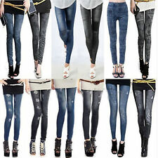 Women Denim Jeans Sexy Skinny Leggings Jeggings Tights Stretch Pants Trousers