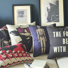 "Decor Pillow Case Cushion Cover Square 18"" Oblong 20"" Movie Posters Star Wars"