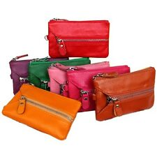 Women's Genuine Leather Wallet Coin Card Purse Key Case