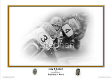 Joey & Robert 'Brothers in Arms'  Artist signed  Fine Art Print by Stephen Doig