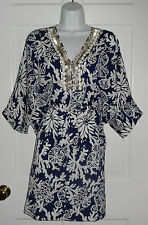 NWT LILLY PULITZER BRIGHT NAVY IN THE GROOVE WILDA CAFTAN DRESS XS S M L