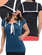 Rock Steady Lucky Sailor Girl Top Rockabilly Nautical Pinup S-XL
