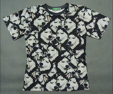 Men Women 3D Husky Dog Animal T-shirt 5 Sizes #D-3