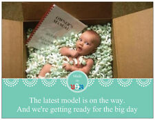 Custom BABY GIRL BOY New USA MODEL Shower INVITATIONS Postcards Flat Cards