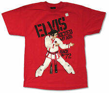 ELVIS PRESLEY KARATE RED T-SHIRT KICKED MY ASS IN 1972 NEW OFFCIAL ADULT