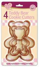 TEDDY BEAR COOKIE CUTTERS LARGE SMALL BISCUIT MEN PASTRY DOUGH gingerbread man