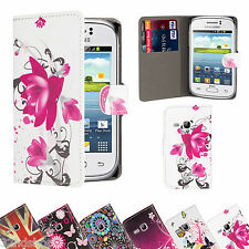 BOOK WALLET PU LEATHER CASE COVER FOR SAMSUNG GALAXY Y S5360 + SCREEN PROTECTOR