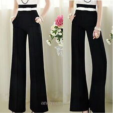 2014 Women's Vintage Printing Long Pants Casual Wide Leg Palazzo Cotton Trousers