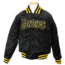 Los Angeles Lakers Satin Youth Jacket Hardwood Classics Black Majestic NBA