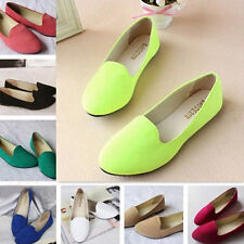 Women Candy Color Suede Leather Ballerina Dolly Flat Ballet Loafer Pump Shoes