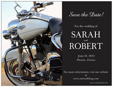 30 50 100 Personalized MOTORCYCLE Harley Save the DATE 5.5 x 4 MAGNETS & Env