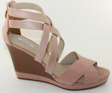 GEOX D Sibilla Powder Pink Suede Platform Wedge Heels Sandal Womens Size 9.5 NEW