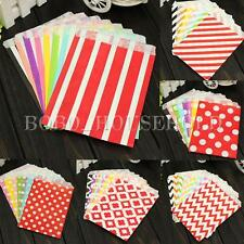 25Pcs Wedding Birthday Party Popcorn Snack Treats Favour Candy Buffet Paper Bags